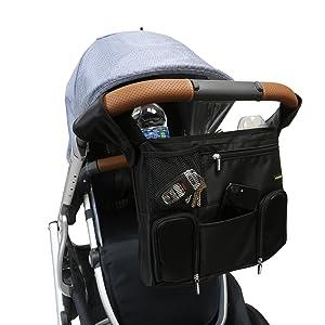 OPEN BOX Emmzoe Universal Fit All-in-One Travel Stroller Organizer