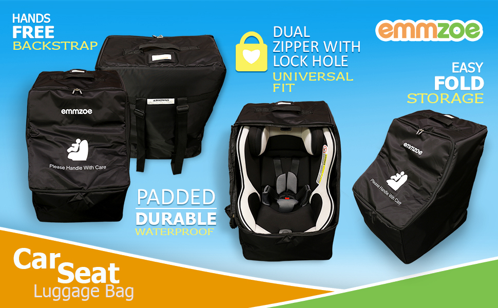 The Emmzoe Car Seat Luggage Travel Bag Is A Great Solution To Protect Your Childs When Traveling Its Simple Way Store