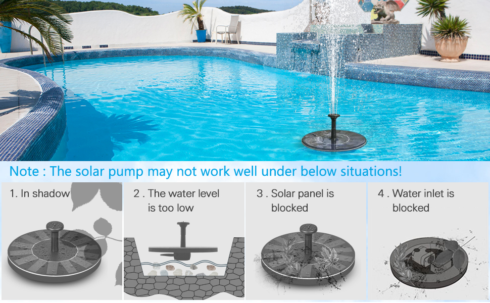 Pumps, Parts & Accessories Home Improvement Aggressive Professional Outdoor Solar Power Water Pump Garden Sun Plants Watering Outdoor Water Fountain Pool Pump