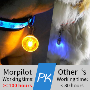 morpilot pet collar charms led light