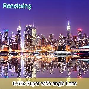 【0.63x Super wide angle Lens】