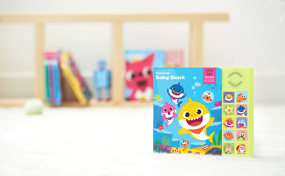 baby shark, sound book, pinkfong, pinkfong baby shark, baby shark sound book