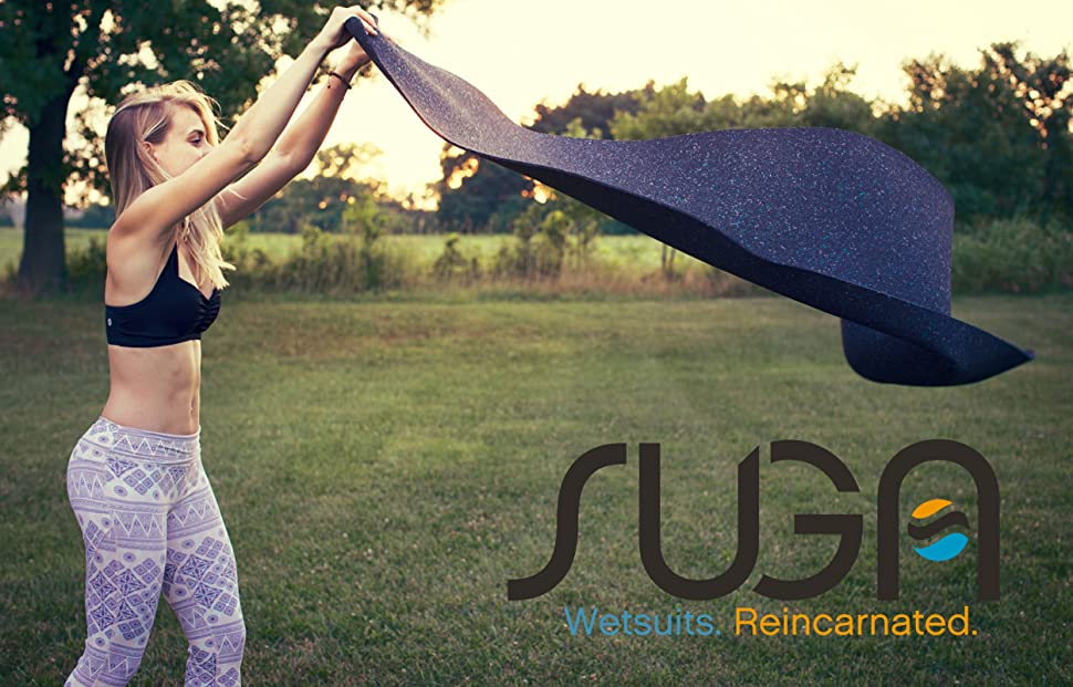 Girl with yoga mat