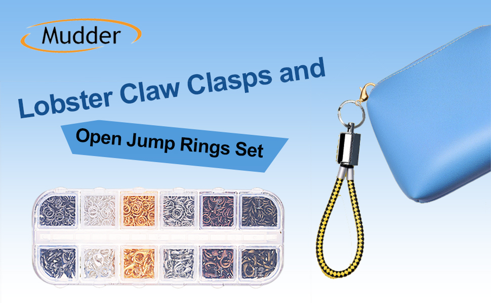 5 mm 12 mm Ferraycle 300 Pieces Curved Lobster Claw Clasp Small Metal Alloy Lobster Clasp and 300 Pieces Open Jump Rings for Earring Bracelets Necklaces Pendant Jewelry Crafts Making