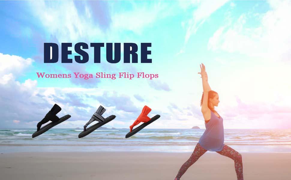 Amazon.com: DESTURE - Sandalias de yoga para mujer, ligeras ...