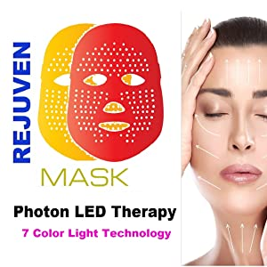 Sunny 3 Color Led Facial Mask Photon Light Skin Rejuvenation Mask For Anti-aging Health Care Massage & Relaxation