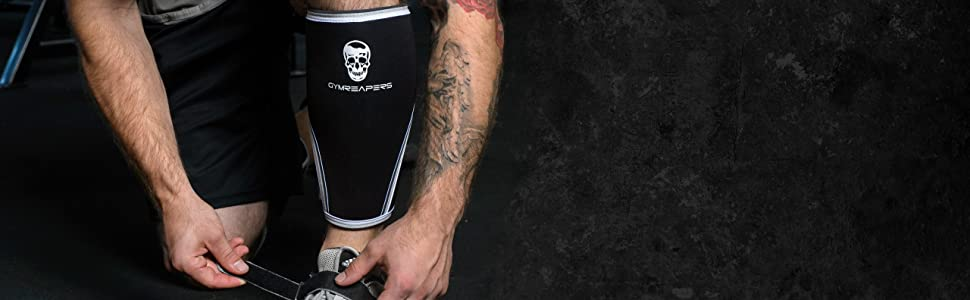 knee sleeves powerlifting weight lifting training strong power 5mm 7mm neoprene lift skull squats