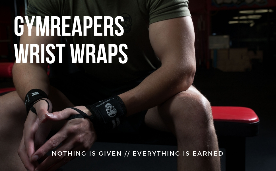 gymreapers weightlifting wrist wraps for bodybuilding powerlifting workout crossfit strong gym train
