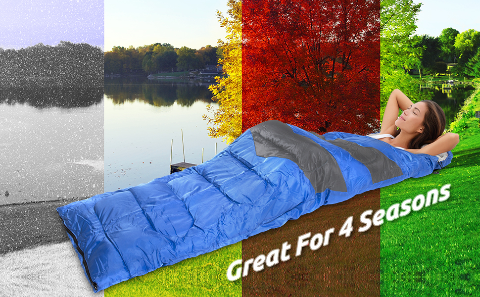 Sleeping Bag - Great For 4 Season Traveling, Camping, Hiking, Outdoor Activities