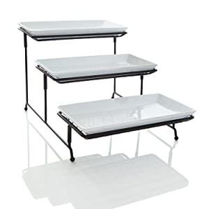 Favorite Amazon.com | [NEW & IMPROVED] 3 Tier Serving Platters with Mesh  RE01