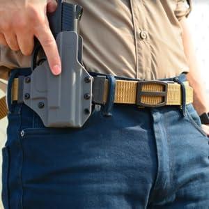 GUN BELT holster nylon ratchet belt ccw for men