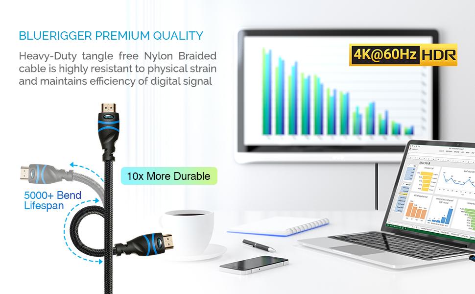 Amazon Com Bluerigger 4k Hdmi Cable 15 Feet Black 4k