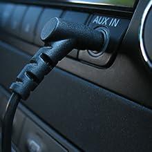 Kinivo plug in aux input 3.5mm car aux bluetooth kit fm transmitter wireless radio adapter talk mp3