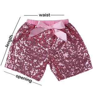 6e9ec2cf1 Amazon.com: Messy Code Baby Girls Shorts Toddlers Short Sequin Pants ...