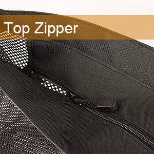 zippered beach bag