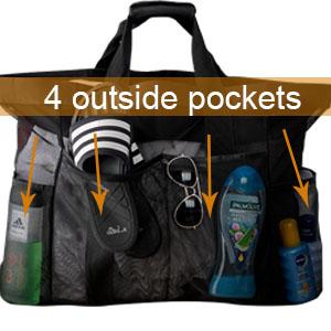 beach bag with pocket