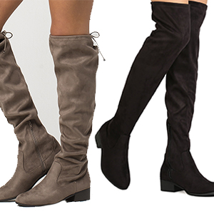 STYLE CONCEPT: VENICE OVER THE KNEE BLOCK STACKED HEEL BOOTS