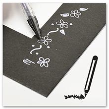 drawing on black mat