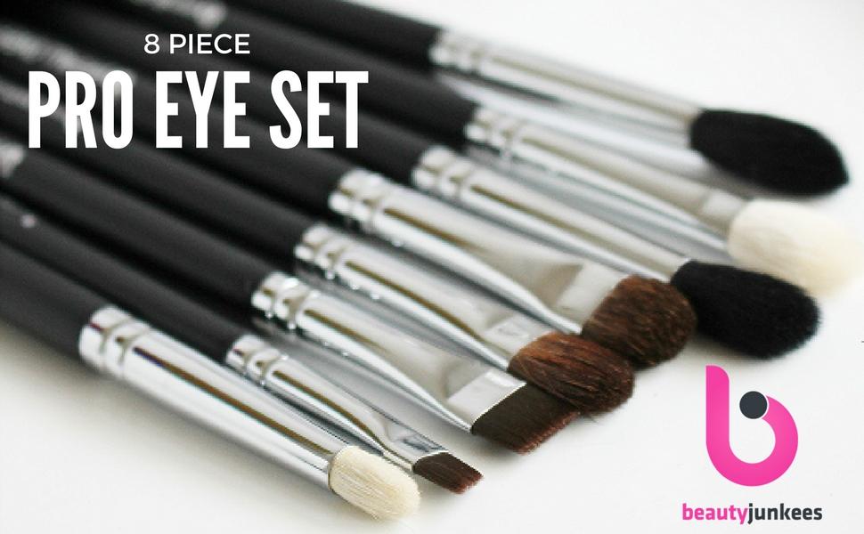 Amazon.com: Juego de 8 brochas de maquillaje con funda ...