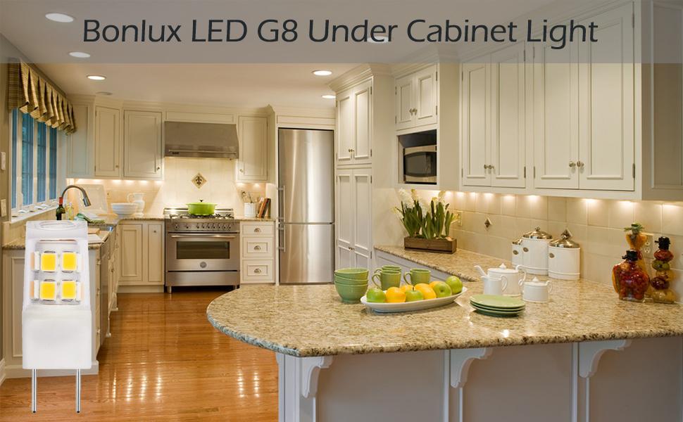 Bonlux Led G8 Light Bulb 2 Watts Warm White T4 G8 Base Bi Pin Xenon Jcd Type Led 120v 20w
