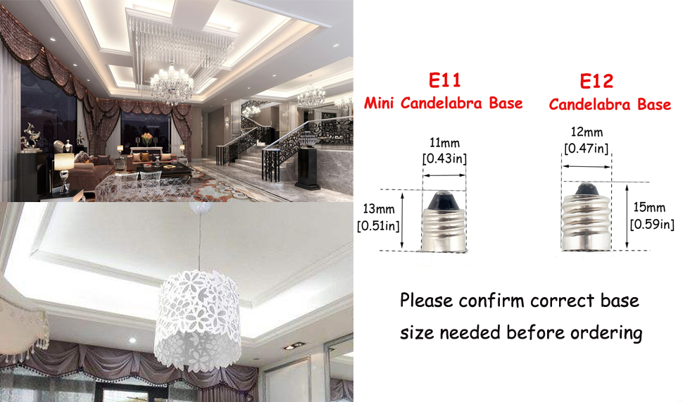 bonlux 6w dimmable mini candelabra e11 led light bulb