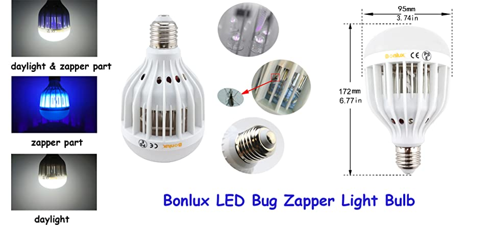 Product Description. Bonlux LED Bug Zapper Light Bulb  sc 1 st  Amazon.com & Amazon.com : Bonlux LED Bug Zapper Light Bulb Medium Screw E26 ... azcodes.com