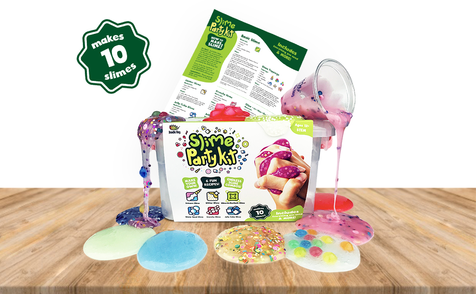 3026fdaa94c5b Incredible Slime Party Supplies Kit for 10 Girls and Boys. Make ...