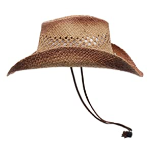 raffia straw hat cowboy cowgirl summer beach men women sun rodeo concert