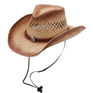 1//6th Scale Brown Cowboy Western Hat for medim size Heads