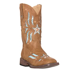 d022e7e9ac2 Amazon.com | Children Western Cowboy Cowgirl Boot, Glitter Star by ...