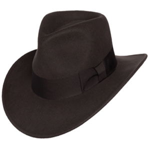 7142b0e4d Men's Indiana Outback Fedora Hat |Crushable Wool Felt by Silver Canyon