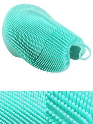 silicone face brush natural bristle