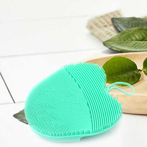 silicone facial brush scrub pad