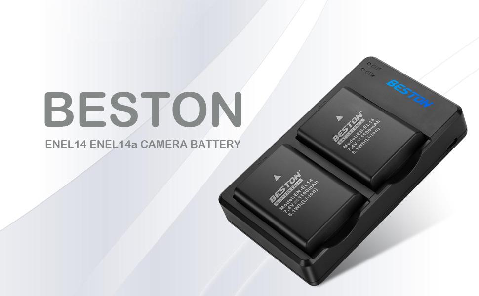 Amazon.com: EN-EL14 EN-EL14A BESTON - Cargador de batería ...