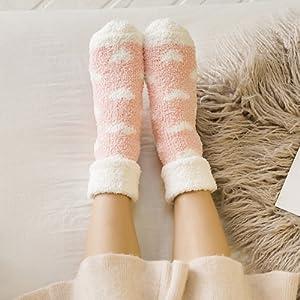 Plush socks women