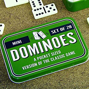 By Paladone Dominoes Classic Tile Game In Metal Tin Set Of 28 Tiles Ages 6