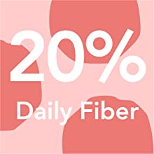 20% of your daily fiber