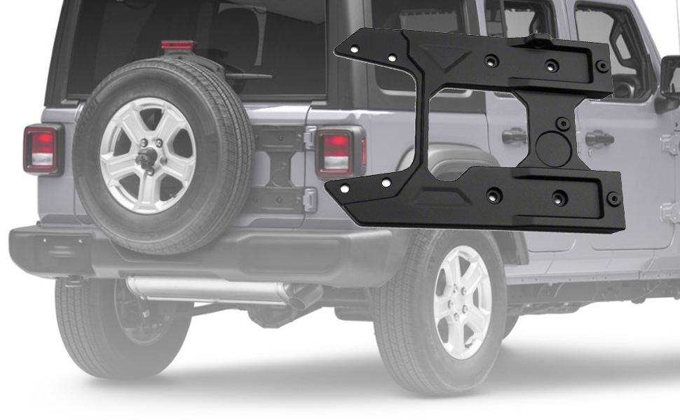 omotor for Jeep Wrangler JL 2018 Oversized Spare Tire Carrier Tailgate Reinforcement Kits