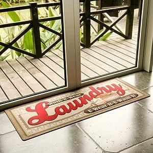 Amazon Com Ustide Floor Rug For Laundry Room Nonslip