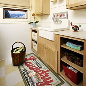 Amazon Com Ustide Floor Rug For Laundry Room Nonslip