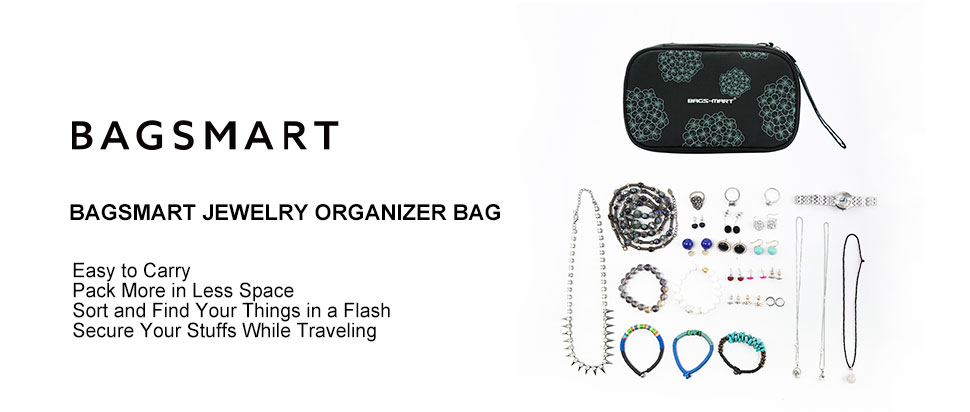 Amazoncom BAGSMART Travel Jewelry Organizer Storage Cases Jewelry