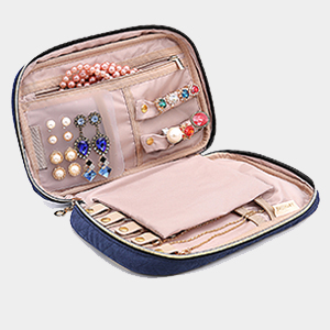 Amazoncom BAGSMART Travel Jewelry Storage Cases Jewelry Organizer