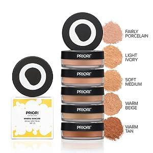 Priori Powder 5 Shades