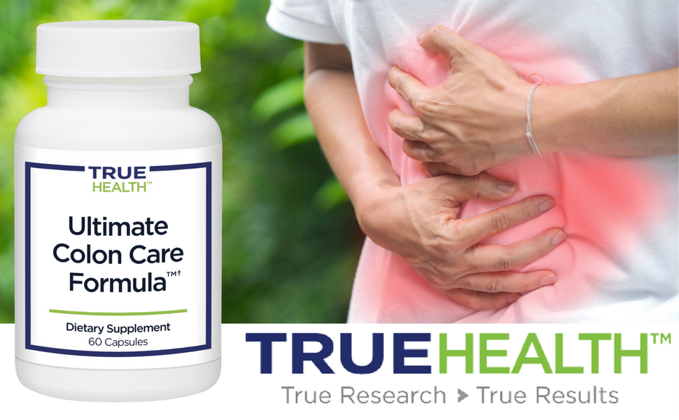 True Health Ultimate Colon Care Formula | Digestive Support, Softens Stool,  Reduce Gas & Bloating (60