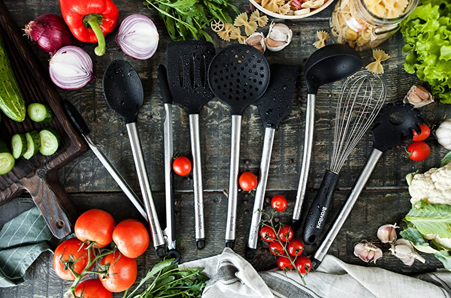 Amazon Com Kitchen Utensils 8 Piece Cooking Utensils