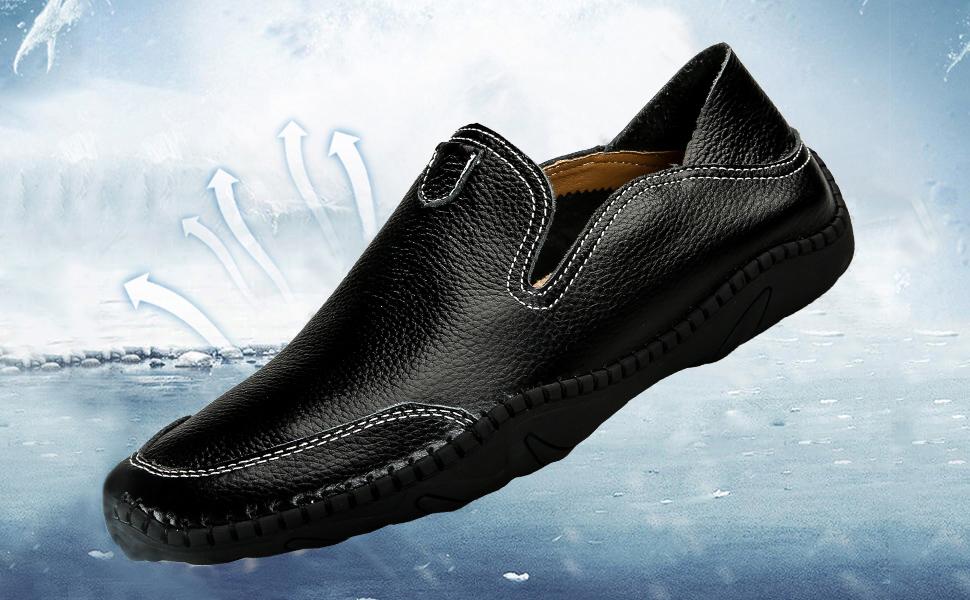 Amazon.com: JIYE - Zapatos de cuero genuino para hombre ...