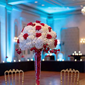 artificial flowers rose silk centerpieces home in vase reception baby shower with vase living table
