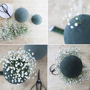 baby's breath bulk wreath  small corsage flower Wrist flowers wedding floral home outside decor