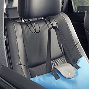 highroad car headrest hooks in black