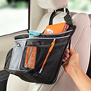 moving the car seat organizer to the back of the seat